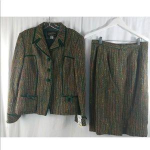 Rickie Freeman for Teri Jon | Green Suit Set |